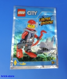 LEGO® City Limited Edition 951703 / Taucher Figur mit Hai / Polybag