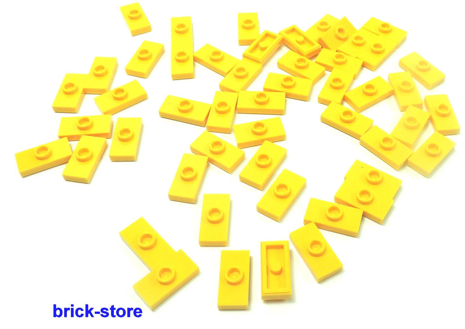 brick lego 50 st ck 1x2 gelbe fliesen. Black Bedroom Furniture Sets. Home Design Ideas
